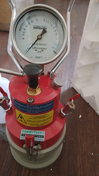 Mortier-lug-inhoud-tester-vervaardiger
